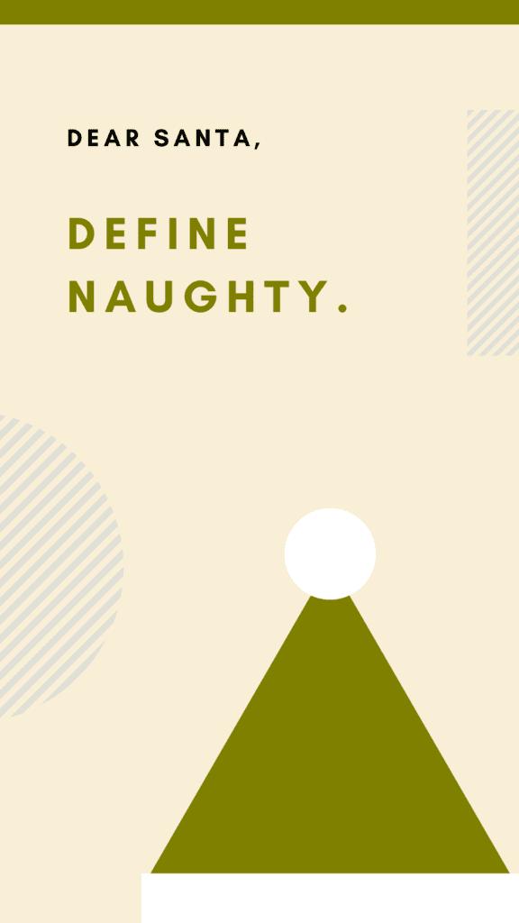 Naught and Nice Iphone Christmas Wallpaper