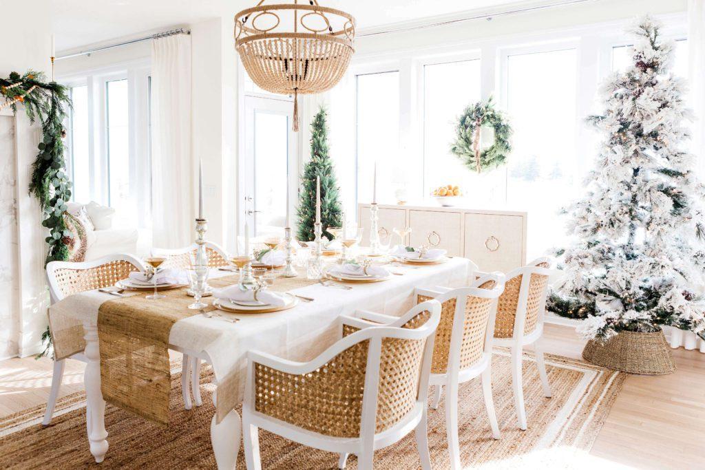 early morning Chirtmas table set up | 2020 Christmas Bucket List Ideas