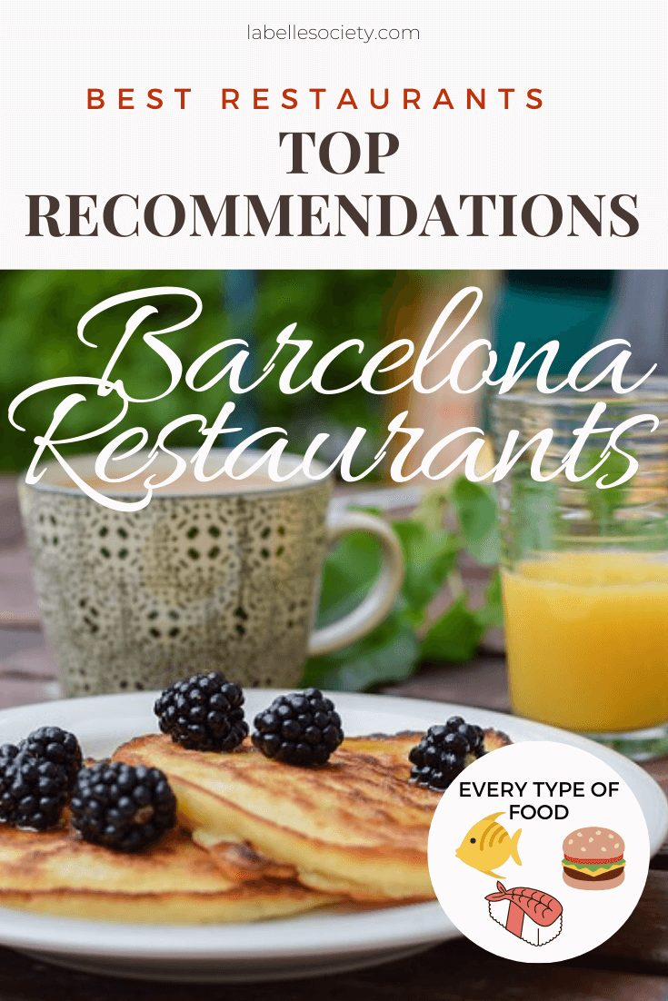 Find here the best restaurant recommendations in Barcelona. From tapas, to paella, and sangria (and even some fresh seafood). After living in Barcelona for 3 years, I got to know a lot of amazing restaurants. Click through if you want to know what they are # barcelonarestaurants #placestoeat #foodguide #barcelonatravel