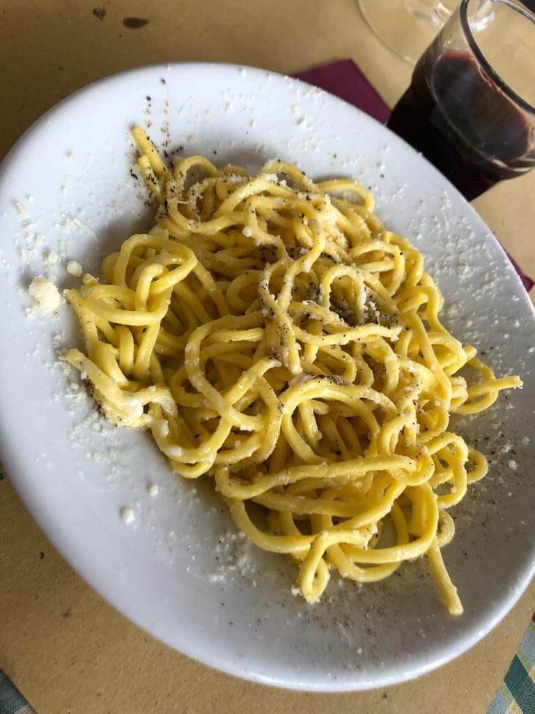 Where to find authentic Cacio e Pepe in Rome Italy