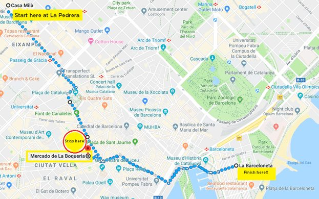 Barcelona perfect walking tour recommended by a local