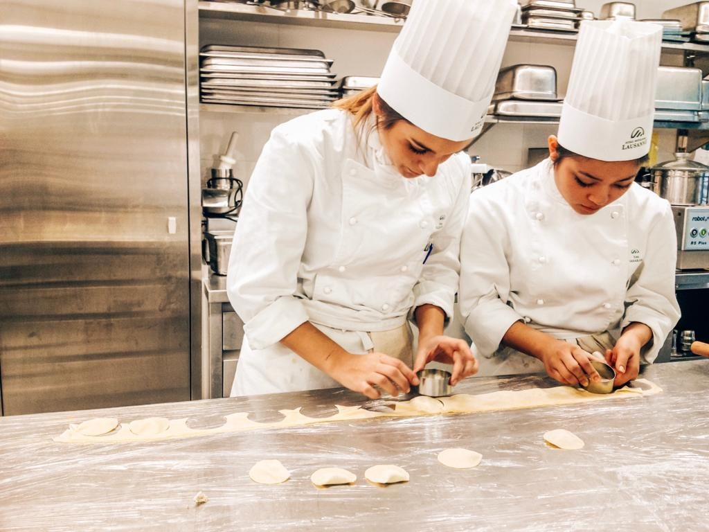 My friends and I working our asses at the kitchen