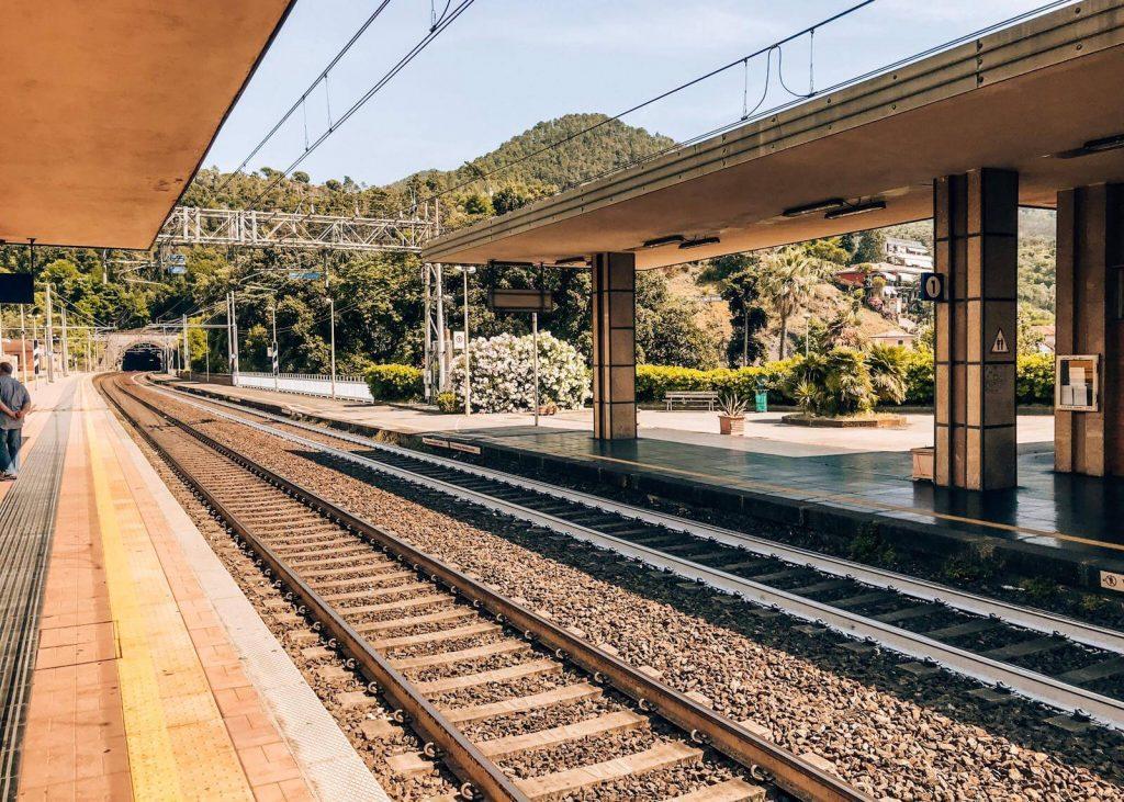 train Station in Manarola, Cique Terre, during Italian summer