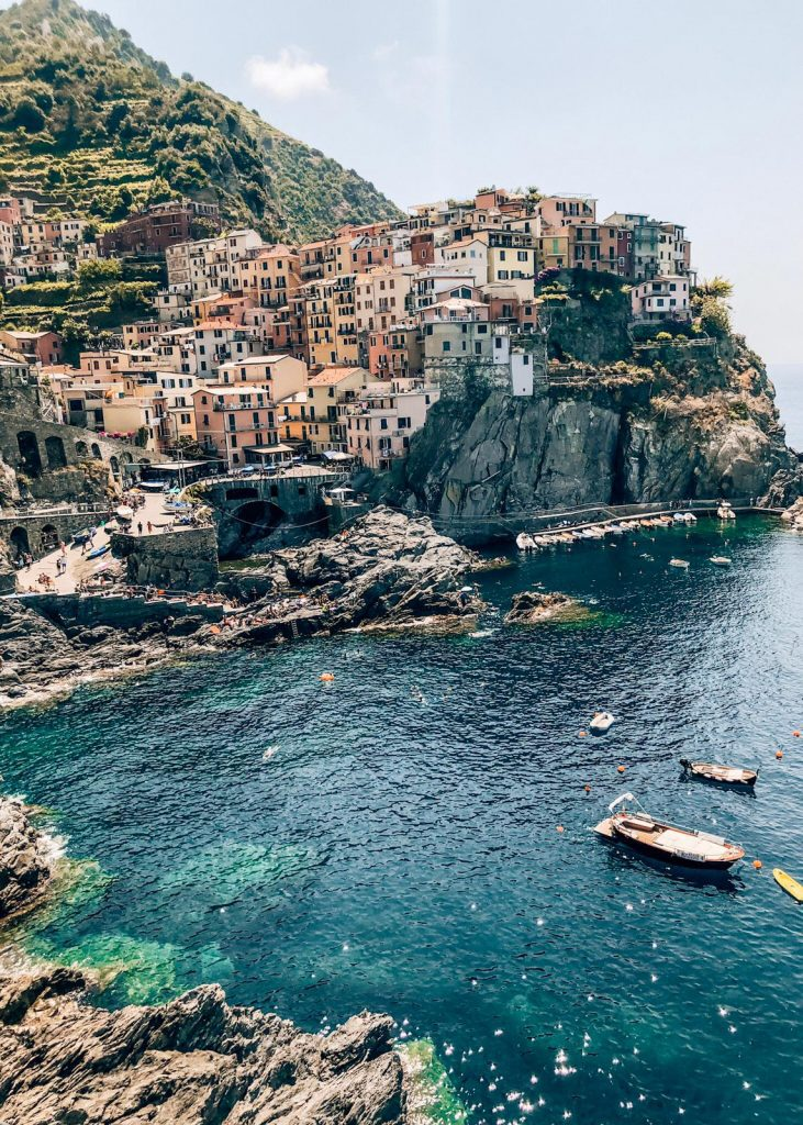 Cinque Terre, a popular summer destination in Italy