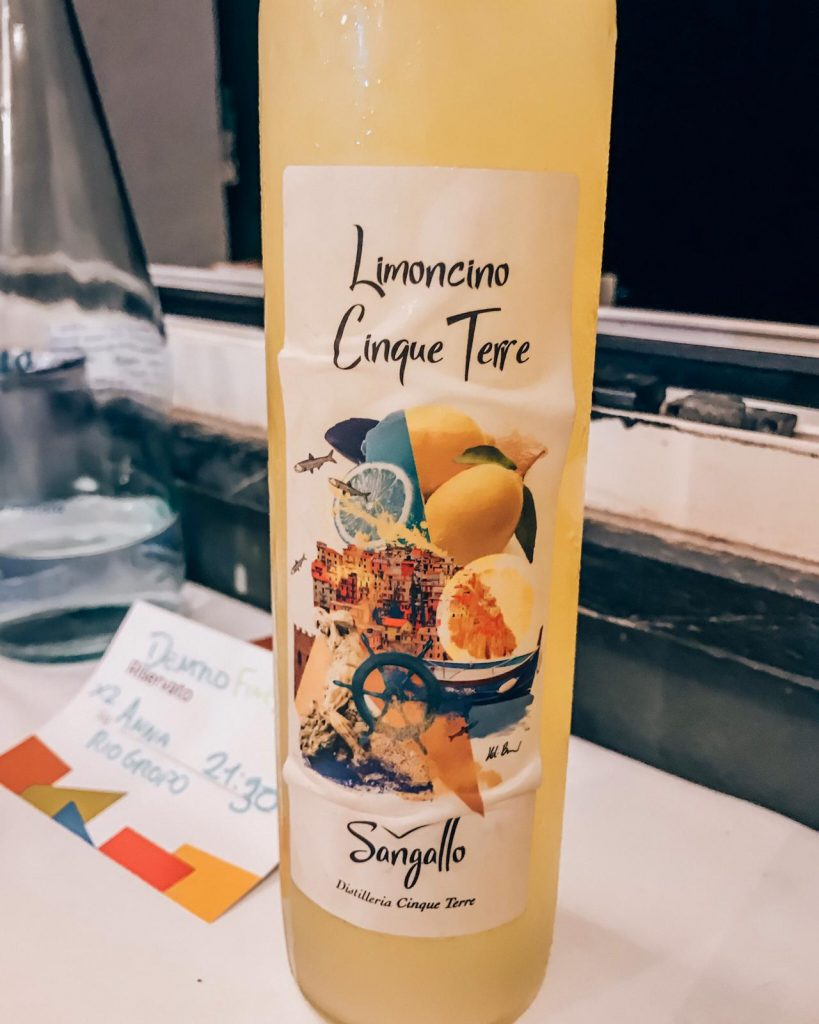 Limoncino Bottle in Cinque Terre
