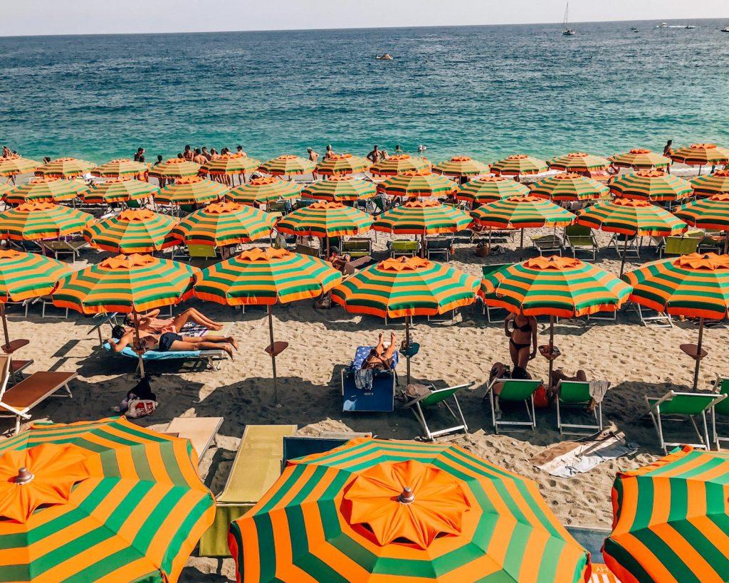 Monterosso al Mare, Cinque Terre, Italy during summer in Europe