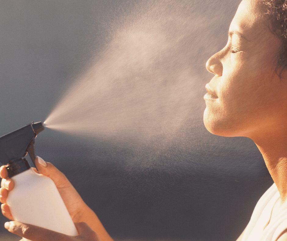 nighttime beauty tips for women | face mist