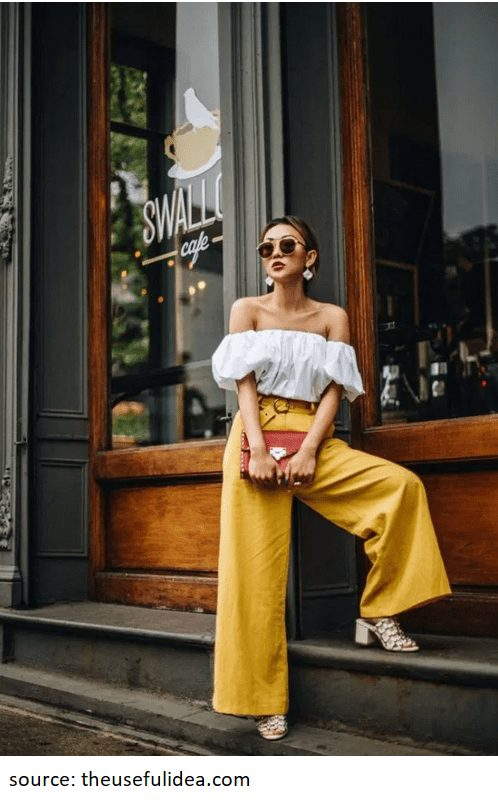 Below is another alternative, with a flashier color. Even though I am a lover of neutral, I also do enjoy playing with some vibrant colors ever now and then. This yellow linen pants would also look gorgeous with a black top. #linenpants #summerfashion #summertrends #linen