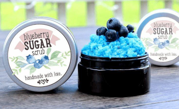 Summer Blueberry Sugar Scrub
