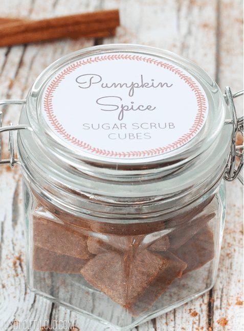 DIY Pumpkin Spice Sugar Scrub Cubes