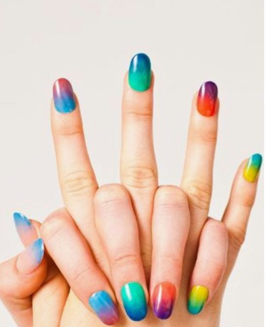 Cute Summer Acrylic Nails Design: 40+ Colorful & Bright Summer Acrylic Nail Art Designs. If you're looking for Summer nail art ideas such as neon nails and glitter nails in a variety of colors, from orange, blue, red and even hot pink summer nail colors, you're in the right place! #summernails #acrylicnails #naildesign Colorful Rainbow