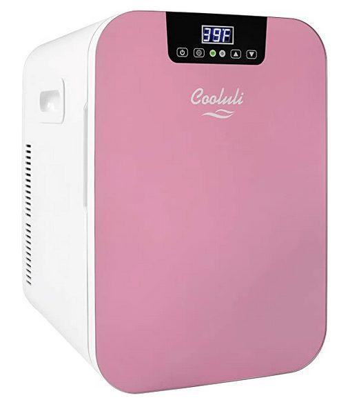 Cooluli Concord White 20 Liter Compact Cooler Warmer Mini Fridge