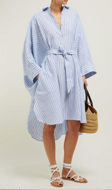 The best shirt dress outfit for women & t shirt fashion   BABY BLUE STRIPES - Looking for the perfect office dress shirt outfit to wear for summer? These shirt dress outfits and styles shirt are perfect to wear for warm weather. Find the best casual and chic dress shirt outfits for women that are, comfortable, and also the best fashionable t shirts summer outfits for women. #shirtdressoutfit #shirtdress #tshirtstyle #styleshirt #summeroutfits