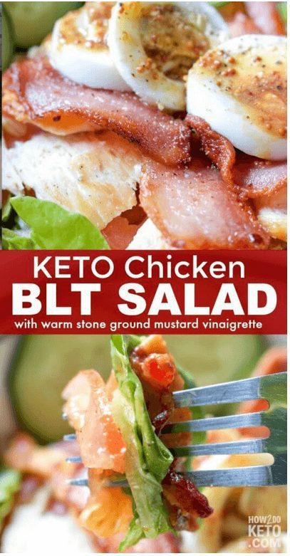 16+ Best Keto Salad Recipes for Summer Weight Loss: Keto Chicken BLT Salad with mustard. Want Easy Keto Salad Ideas? If you're looking for delicious keto salad recipes low carb, best keto salads, ketogenic diet tips, or even keto salad recipes lunches and healthy keto dressing recipes, you'll find them all here! There's keto salad recipes perfect for a crowd, keto salad recipes ideas for lunch and dinners. #ketochickensalad #keto #salad #ketodiet #ketogenic #ketosalad #recipes #saladrecipes #ketosaladrecipes  #ketolunch  #dinner #lowcarb #chicken