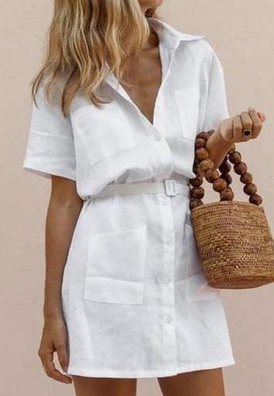 Cutest Shirt Dress Outfits Ideas for Summer 2021