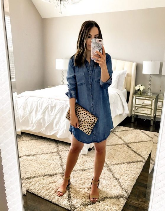 The best shirt dress outfit for women & t shirt fashion   DENIM SHIRT DRESS - Looking for the perfect office dress shirt outfit to wear for summer? These shirt dress outfits and styles shirt are perfect to wear for warm weather. Find the best casual and chic dress shirt outfits for women that are, comfortable, and also the best fashionable t shirts summer outfits for women. #shirtdressoutfit #shirtdress #tshirtstyle #styleshirt #summeroutfits