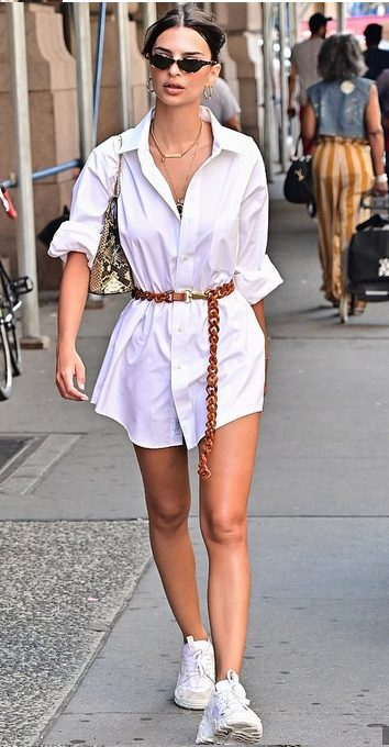 The best shirt dress outfit for women & t shirt fashion   SHORT WHITE SHIRT DRESS - Looking for the perfect office dress shirt outfit to wear for summer? These shirt dress outfits and styles shirt are perfect to wear for warm weather. Find the best casual and chic dress shirt outfits for women that are, comfortable, and also the best fashionable t shirts summer outfits for women. #shirtdressoutfit #shirtdress #tshirtstyle #styleshirt #summeroutfits