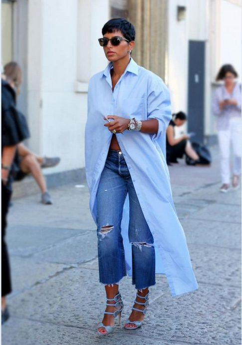 The best shirt dress outfit for women & t shirt fashion   OVERSIZED BLUE SHIRT DRESS - Looking for the perfect office dress shirt outfit to wear for summer? These shirt dress outfits and styles shirt are perfect to wear for warm weather. Find the best casual and chic dress shirt outfits for women that are, comfortable, and also the best fashionable t shirts summer outfits for women. #shirtdressoutfit #shirtdress #tshirtstyle #styleshirt #summeroutfits