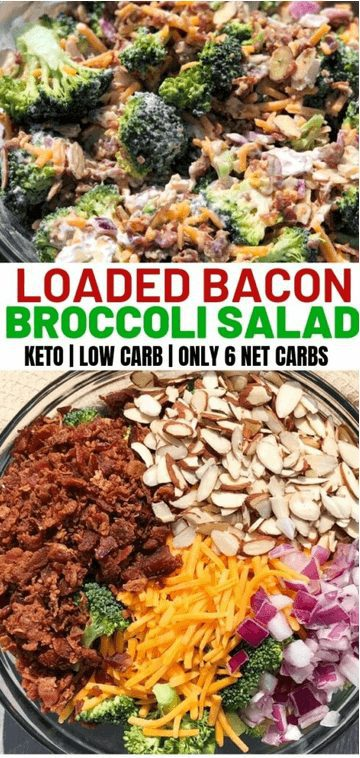 The Best Keto Salad Recipes for Summer Weight Loss: Loaded Broccoli Keto Salad. Want Easy Keto Salad Ideas? If you're looking for delicious keto salad recipes low carb, best keto salads, ketogenic diet tips, or even keto salad recipes lunches and healthy keto dressing recipes, you'll find them all here! There's Keto salad recipes perfect for a crowd, Keto salad recipes ideas for lunch and dinners. #keto #salad #ketodiet #ketogenic #ketosalad #recipes #saladrecipes #ketosaladrecipes  #ketolunch  #dinner #lowcarb #broccoli #bacon