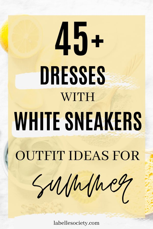 White Sneakers with Dress    My favorite summer style is the white sneakers with dress duo. The classic white sneaker style is timeless, casual and cute. Paired with a summer dress, white shoes are the ultimate fashion statement for summer and spring. #whitesneakers #whitesneakersoutfit ##whitesneakerswithdress #dress #summeroutfits #sneakersstyle #whiteshoes