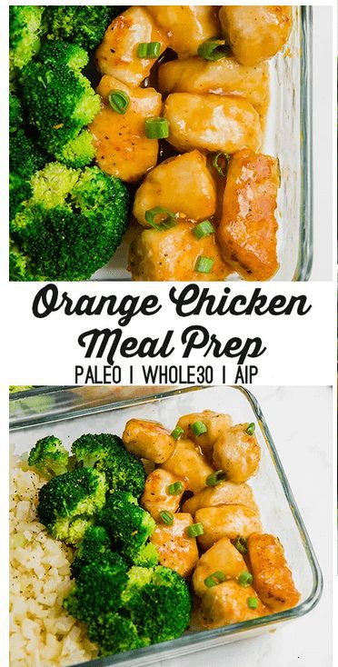 Orange Chicken with brocolli Meal Preparation idea for the week