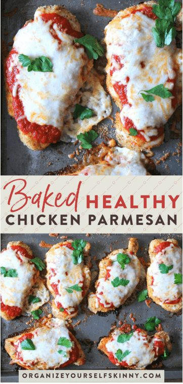Baked Chicken with melted Parmesan and basil meal prep