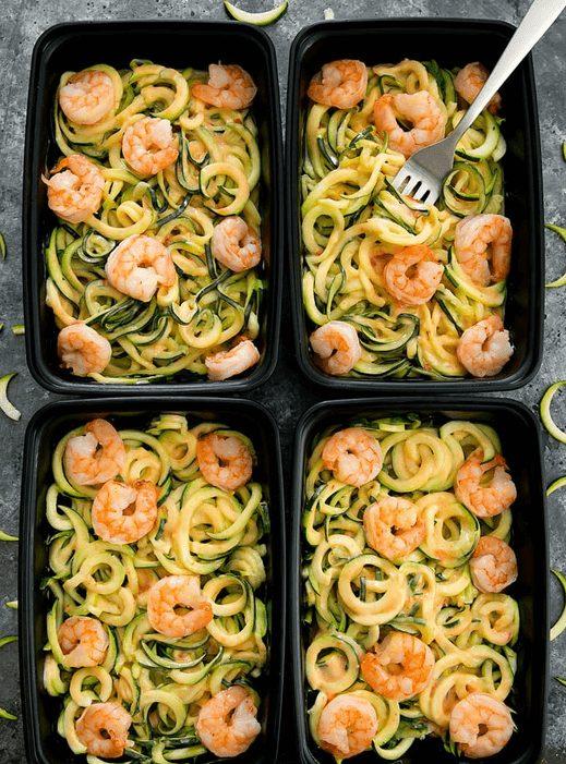 Skinny Bang Bang Zucchini Noodles & Shrimp