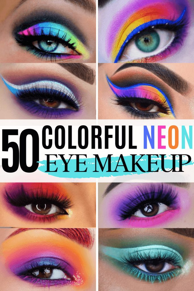 Bright Neon Neon Eye Makeup   From Neon eyeshadow looks, neon eyeshadow in bright colors, from green, yellow, orange, hot pink, and blue. Beautiful eye makeup eyes, from neon eyeshadow makeup inspiration  colorful eye makeup, bright eye makeup, dramatic colorful eye makeup, and neon eyeshadow makeup tutorial, perfect for summer. Here you'll find the best bold ideas for bright neon eye makeup ideas, colorful eyeshadow, neon makeup glitter, and summer festival makeup #neoneyeshadow #neoneyemakeup #colorfuleyemakeup #brighteyemakeup #neoneyemakeupideas