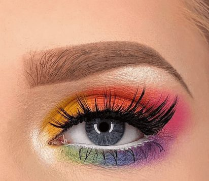 Bright Rainbow Neon Eye Makeup   From Neon eyeshadow looks, neon eyeshadow in bright colors, from green, yellow, orange, hot pink, and blue. Beautiful eye makeup eyes, from neon eyeshadow makeup inspiration  colorful eye makeup, bright eye makeup, dramatic colorful eye makeup, and neon eyeshadow makeup tutorial, perfect for summer. Here you'll find the best bold ideas for bright neon eye makeup ideas, colorful eyeshadow, neon makeup glitter, and summer festival makeup #neoneyeshadow #neoneyemakeup #colorfuleyemakeup #brighteyemakeup #neoneyemakeupideas