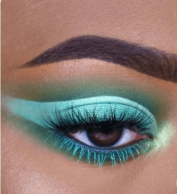 Shiny Neon Blue and Neon Green Eye Shadow   From Neon eyeshadow looks, neon eyeshadow in bright colors, from green, yellow, orange, hot pink, and blue. Beautiful eye makeup eyes, from neon eyeshadow makeup inspiration  colorful eye makeup, bright eye makeup, dramatic colorful eye makeup, and neon eyeshadow makeup tutorial, perfect for summer. Here you'll find the best bold ideas for bright neon eye makeup ideas, colorful eyeshadow, neon makeup glitter, and summer festival makeup #neoneyeshadow #neoneyemakeup #colorfuleyemakeup #brighteyemakeup #neoneyemakeupideas