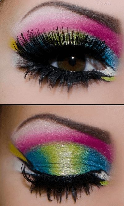 Neon Colorful Eye Makeup   From Neon eyeshadow looks, neon eyeshadow in bright colors, from green, yellow, orange, hot pink, and blue. Beautiful eye makeup eyes, from neon eyeshadow makeup inspiration  colorful eye makeup, bright eye makeup, dramatic colorful eye makeup, and neon eyeshadow makeup tutorial, perfect for summer. Here you'll find the best bold ideas for bright neon eye makeup ideas, colorful eyeshadow, neon makeup glitter, and summer festival makeup #neoneyeshadow #neoneyemakeup #colorfuleyemakeup #brighteyemakeup #neoneyemakeupideas