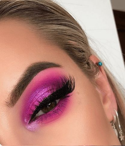Hot Pink Neon Eye Makeup   From Neon eyeshadow looks, neon eyeshadow in bright colors, from green, yellow, orange, hot pink, and blue. Beautiful eye makeup eyes, from neon eyeshadow makeup inspiration  colorful eye makeup, bright eye makeup, dramatic colorful eye makeup, and neon eyeshadow makeup tutorial, perfect for summer. Here you'll find the best bold ideas for bright neon eye makeup ideas, colorful eyeshadow, neon makeup glitter, and summer festival makeup #neoneyeshadow #neoneyemakeup #colorfuleyemakeup #brighteyemakeup #neoneyemakeupideas