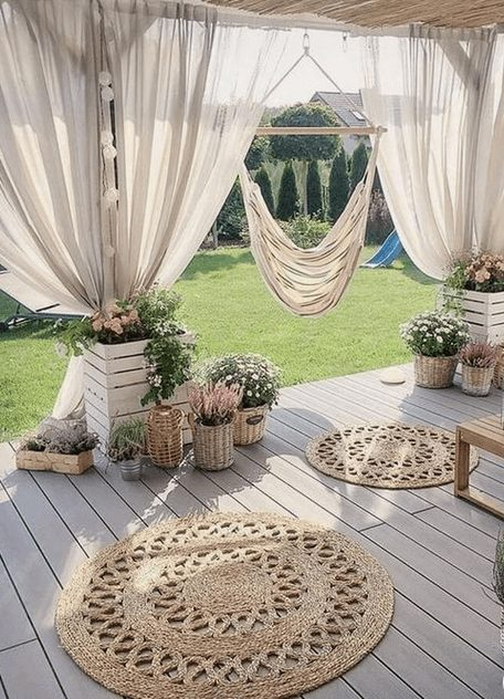 The Best Outdoor Patio Furniture on Amazon for Summer | Boho and Feminine.Looking for modern ideas for outdoor patio furniture? Find ideas on how to decorate outdoor patio, lounge areas, ideas layout, and small dining lounge areas with fire pit, set decks, outdoor porch ideas, cushions, backyard ideas and patio inspiration for small space during summer. #patiofurniture #outdoorfurniture #patiodecore #patioinspiration