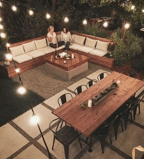 The Best Outdoor Patio Furniture on Amazon for Summer | Many Seating Spaces. Looking for modern ideas for outdoor patio furniture? Find ideas on how to decorate outdoor patio, lounge areas, ideas layout, and small dining lounge areas with fire pit, set decks, outdoor porch ideas, cushions, backyard ideas and patio inspiration for small space during summer. #patiofurniture #outdoorfurniture #patiodecore #patioinspiration