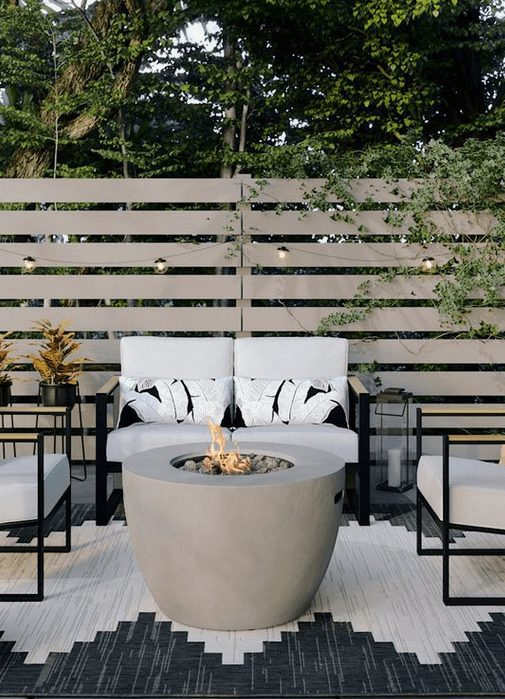 The Best Outdoor Patio Furniture on Amazon for Summer | Modern and Minimal Outdoor Decoration  | Looking for modern ideas for outdoor patio furniture? Find ideas on how to decorate outdoor patio, lounge areas, ideas layout, and small dining lounge areas with fire pit, set decks, outdoor porch ideas, cushions, backyard ideas and patio inspiration for small space during summer. #patiofurniture #outdoorfurniture #patiodecore #patioinspiration