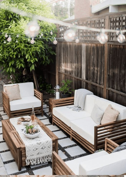 The Best Outdoor Patio Furniture on Amazon for Summer | Boho Vibes. Looking for modern ideas for outdoor patio furniture? Find ideas on how to decorate outdoor patio, lounge areas, ideas layout, and small dining lounge areas with fire pit, set decks, outdoor porch ideas, cushions, backyard ideas and patio inspiration for small space during summer. #patiofurniture #outdoorfurniture #patiodecore #patioinspiration