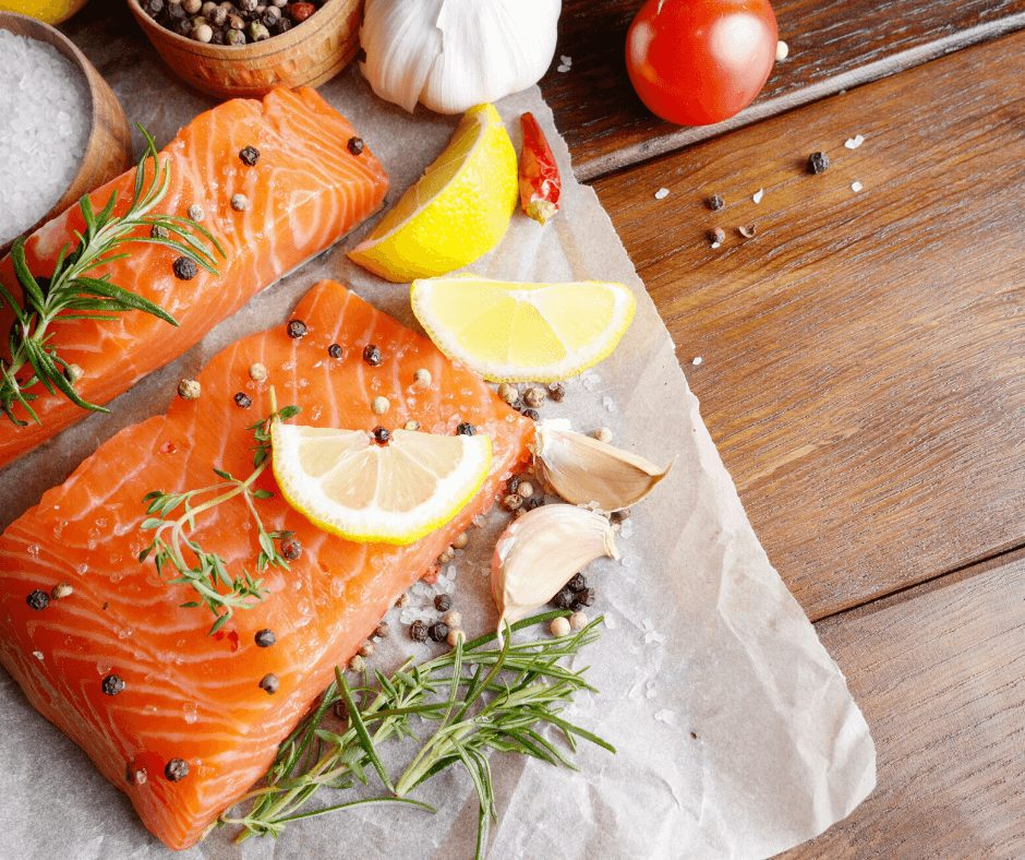 14 Delicious Super Foods for Flawless Skin.Fatty fish such as salmon, mackerel, and herring are packed with essential fatty acids such as omega-3, which reduces inflammation in the body. If you're someone who's been battling acne, eczema, or other inflammation injuries, then fishes like salmon will most probably help you out.
