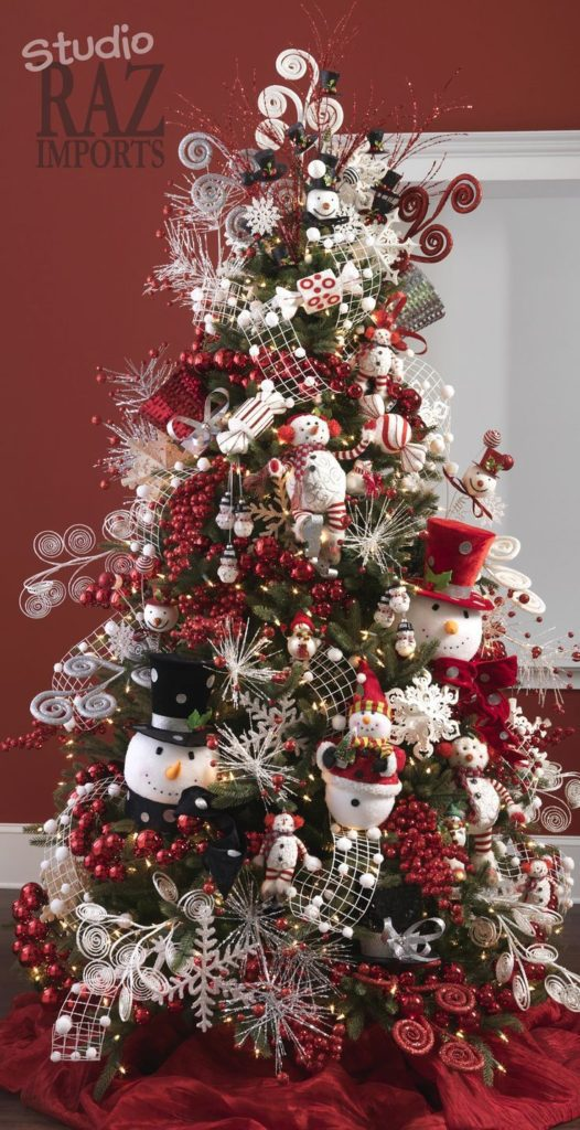 Snowman Christmas Tree  | Want ideas for unique Christmas trees for the 2020 holiday season? Find inspiration ideas for your Christmas tree decoration from creative and unique xmas trees. From white, upside down, best Christmas trees on wall, pink Christmas trees, and even Disney Christmas tree decorations. From big and small unique Christmas tree ideas. Perfect for kids and for the holidays. #uniquechristmastree #christmastreeideas #christmastreeideas #christmas
