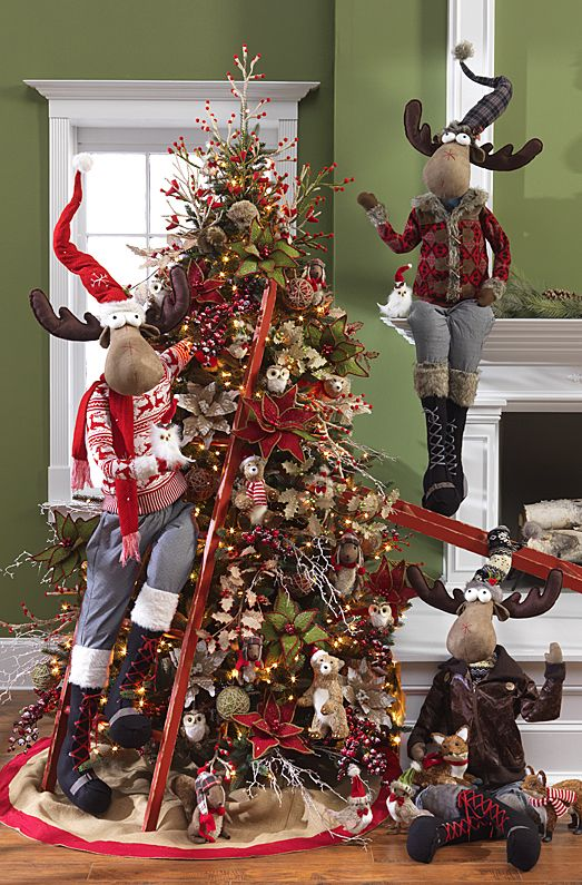 Reindeer Christmas Tree | Want ideas for unique Christmas trees for the 2020 holiday season? Find inspiration ideas for your Christmas tree decoration from creative and unique xmas trees. From white, upside down, best Christmas trees on wall, pink Christmas trees, and even Disney Christmas tree decorations. From big and small unique Christmas tree ideas. Perfect for kids and for the holidays. #uniquechristmastree #christmastreeideas #christmastreeideas #christmas