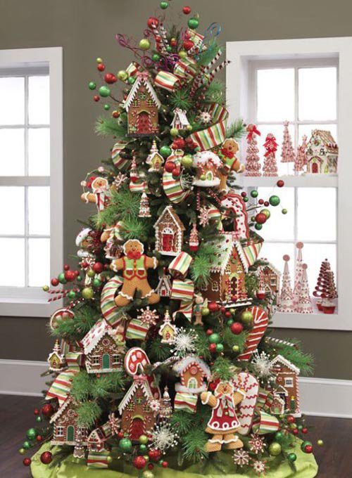 A Delicious Tree Made of Ginger Bread Goodies | Want ideas for unique Christmas trees for the 2020 holiday season? Find inspiration ideas for your Christmas tree decoration from creative and unique xmas trees. From white, upside down, best Christmas trees on wall, pink Christmas trees, and even Disney Christmas tree decorations. From big and small unique Christmas tree ideas. Perfect for kids and for the holidays. #uniquechristmastree #christmastreeideas #christmastreeideas #christmas