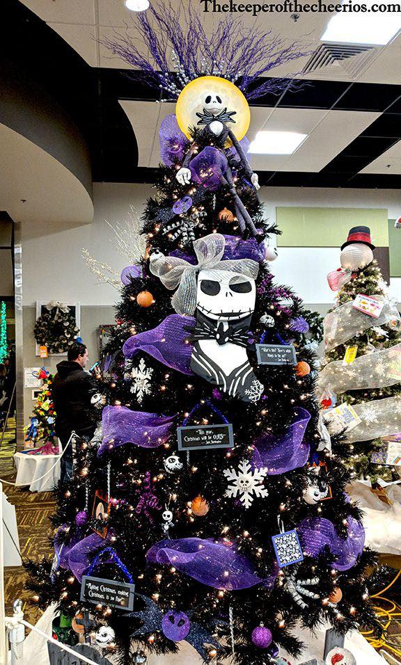 The Nightmare Before Christmas Christmas Tree | Want ideas for unique Christmas trees for the 2020 holiday season? Find inspiration ideas for your Christmas tree decoration from creative and unique xmas trees. From white, upside down, best Christmas trees on wall, pink Christmas trees, and even Disney Christmas tree decorations. From big and small unique Christmas tree ideas. Perfect for kids and for the holidays. #uniquechristmastree #christmastreeideas #christmastreeideas #christmas