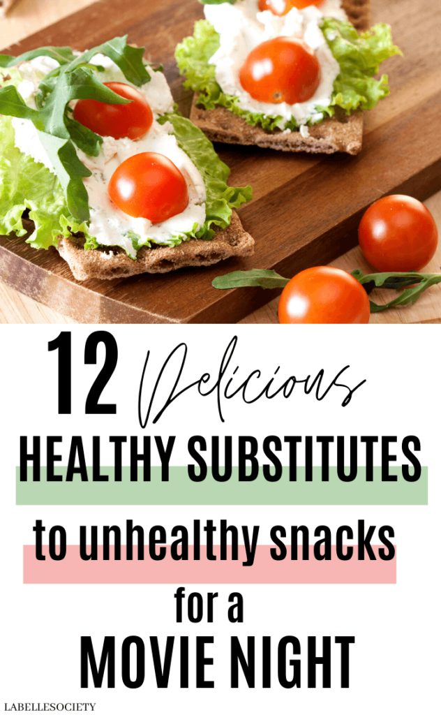 Want to eat healthier food and delicious snacks for a movie night? There are various delicious, healthier food to substitute unhealthy junk food. You'll want to try all these healthy sweet and salty snack substitutes. These food yummies and easy healthy recipes are perfect for a night in with friends or family. #snacksubstitutes #healthyfoodsubstitutes #healthyfoodmovienight #healthyfoodsubstitutes