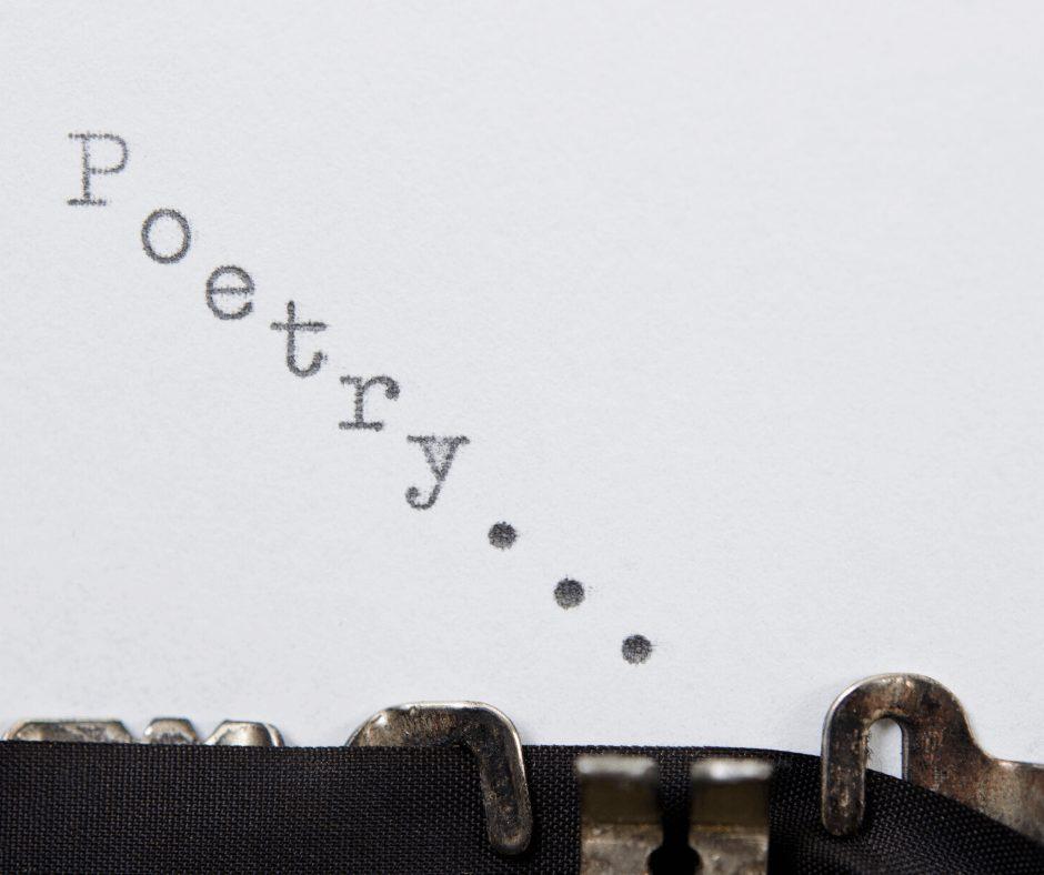 typewriter writing Poetry