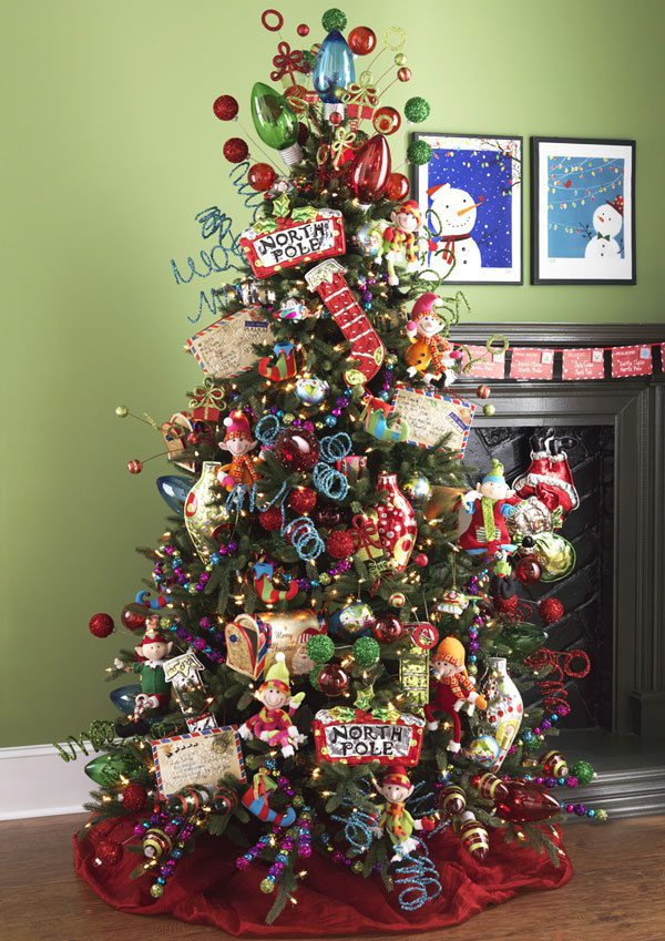 North Pole Christmas Tree | Want ideas for unique Christmas trees for the 2020 holiday season? Find inspiration ideas for your Christmas tree decoration from creative and unique xmas trees. From white, upside down, best Christmas trees on wall, pink Christmas trees, and even Disney Christmas tree decorations. From big and small unique Christmas tree ideas. Perfect for kids and for the holidays. #uniquechristmastree #christmastreeideas #christmastreeideas #christmas