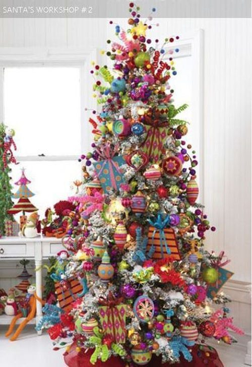 A Colorful & Fun Christmas Tree for Kids | Want ideas for unique Christmas trees for the 2020 holiday season? Find inspiration ideas for your Christmas tree decoration from creative and unique xmas trees. From white, upside down, best Christmas trees on wall, pink Christmas trees, and even Disney Christmas tree decorations. From big and small unique Christmas tree ideas. Perfect for kids and for the holidays. #uniquechristmastree #christmastreeideas #christmastreeideas #christmas