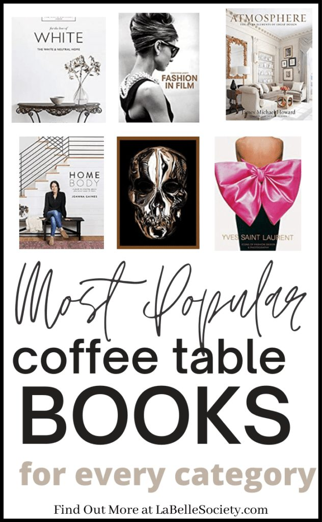 Coffee table books, as the name says it, are great as a decor idea for your coffee table styling. If you have a coffee table project, chances are you are searching for stylish, elegant and statement coffee table books for your central table design. Find a selection of best coffee table books on Amazon, from popular categories (Fashion, Home Decor, Travel and Culture) #coffeetablebook #bestcoffeetablebooks #fashionbooks #travelbooks #homedecor
