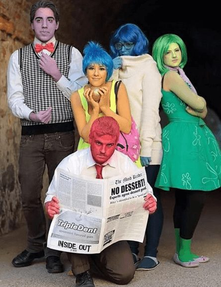 Inside Out Movie Group Costume for Halloween | The best group Halloween costumes for girls