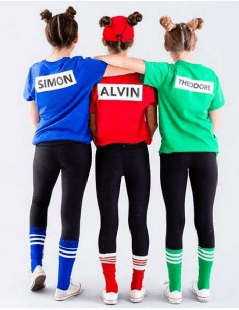 Alvin and the Chipmunks, perfect for 80s and 90s kids | The best group Halloween costumes for girls