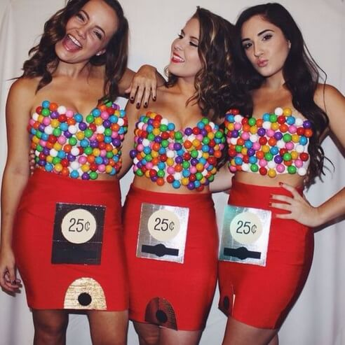 Gumball Machine Costume for Girls  | The best group Halloween costumes for girls