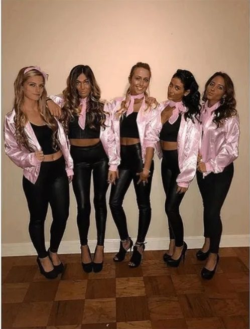 Pink Ladies from Grease  | The best group Halloween costumes for girls